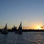 Yachtcharter Stralsund Sonnenuntergang