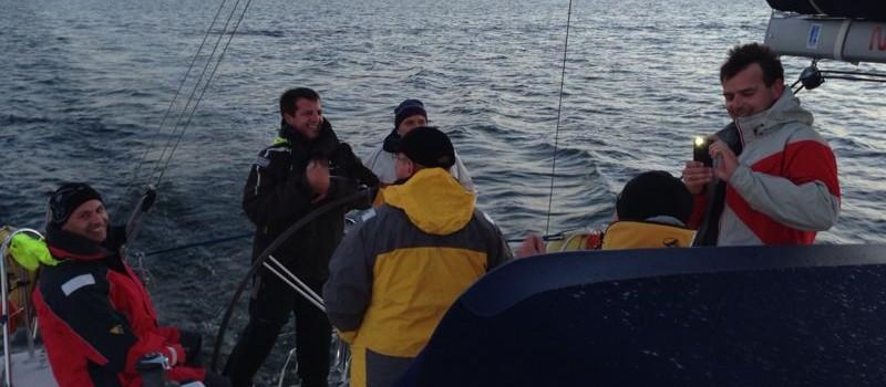 mit Mannschaft vor Stralsund